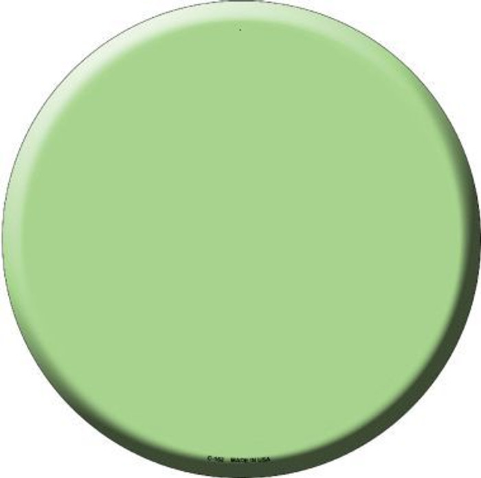 Lime Green Novelty Metal Circular Sign