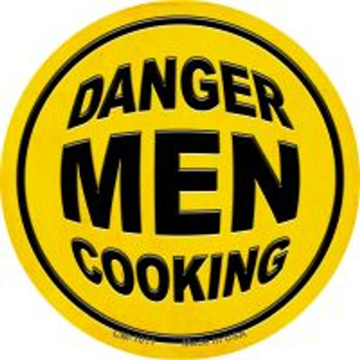 Danger Men Cooking Novelty Metal Mini Circle Magnet CM-1011