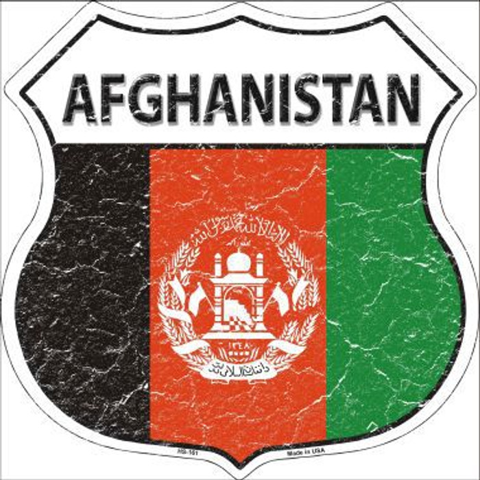 Afghanistan Country Flag Highway Shield Metal Sign