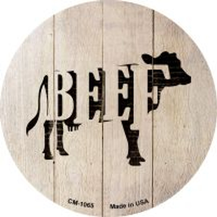 Cows Make Beef Novelty Metal Mini Circle Magnet CM-1065