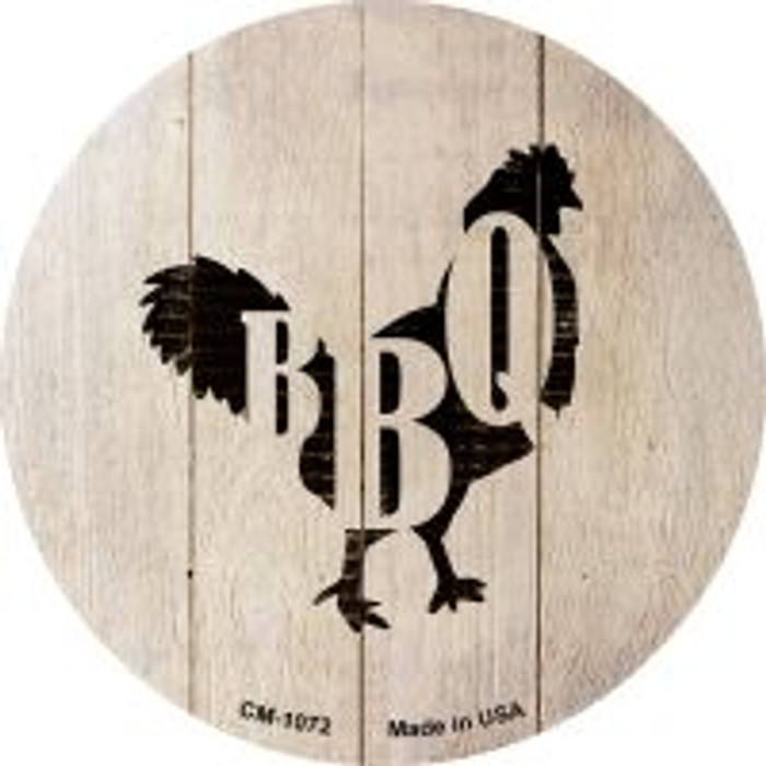 Chickens Make BBQ Novelty Metal Mini Circle Magnet CM-1072