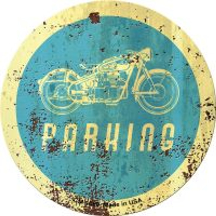 Motorcycle Parking Novelty Metal Mini Circle Magnet CM-1080