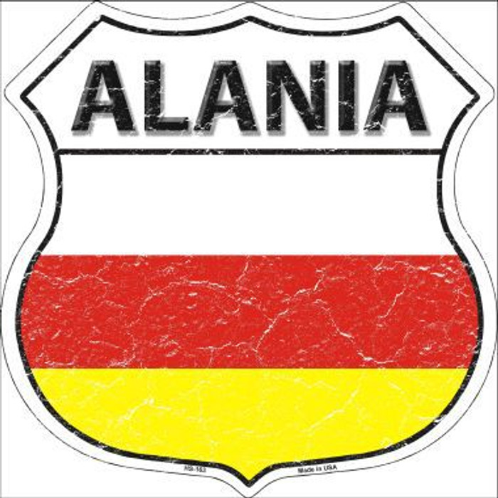 Alania Country Flag Highway Shield Metal Sign