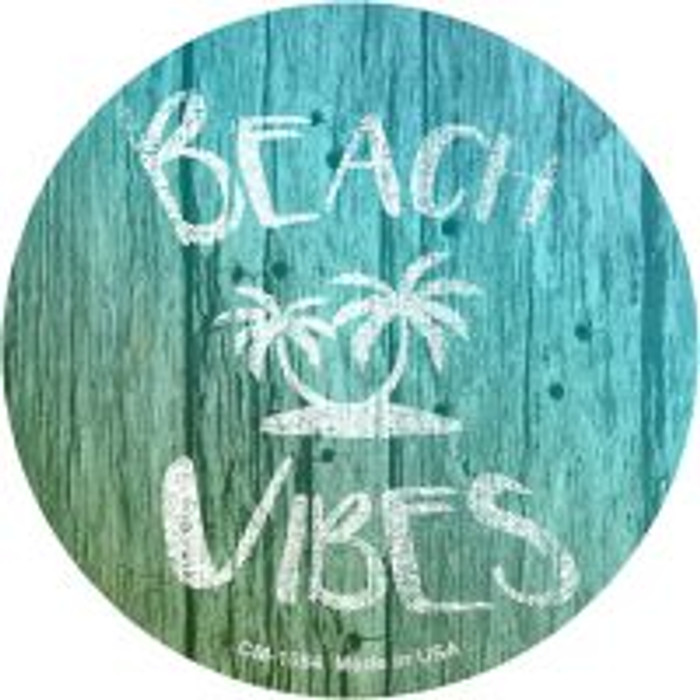 Beach Vibes Novelty Metal Mini Circle Magnet CM-1084