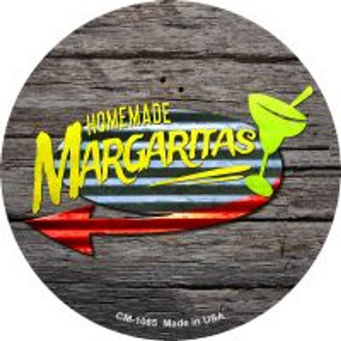 Homemade Margaritas Novelty Metal Mini Circle Magnet CM-1085