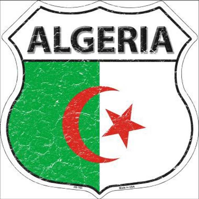 Algeria Country Flag Highway Shield Metal Sign