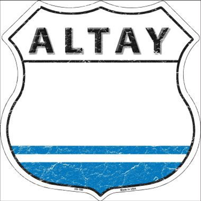 Altay Country Flag Highway Shield Metal Sign