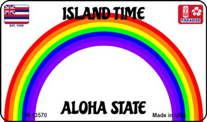 Hawaii Blank Novelty Metal Magnet M-13570