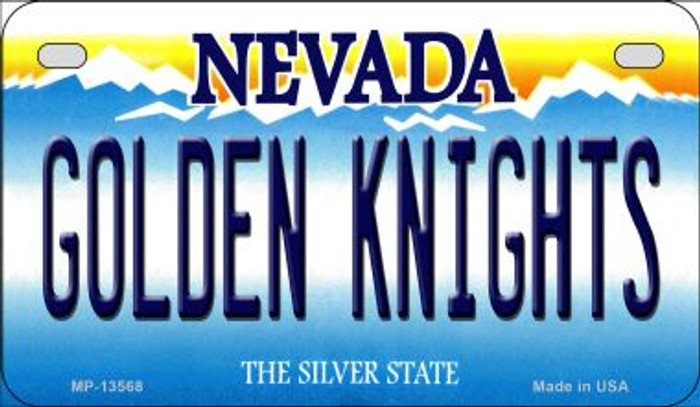 Golden Knights Novelty Metal Motorcycle Plate MP-13568
