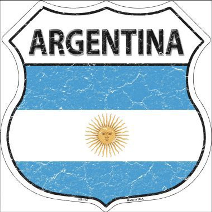 Argentina Country Flag Highway Shield Metal Sign