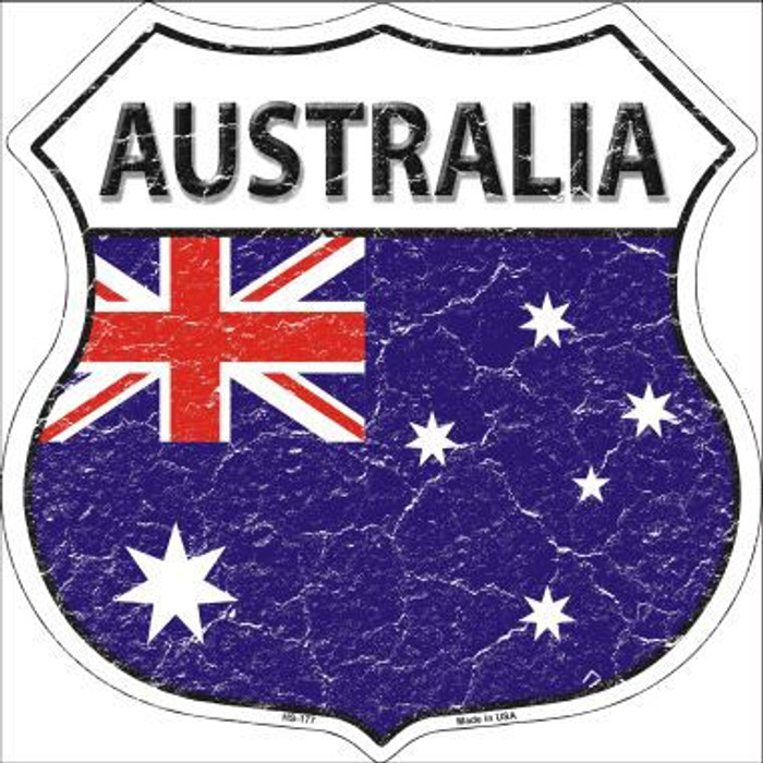 Australia Country Flag Highway Shield Metal Sign