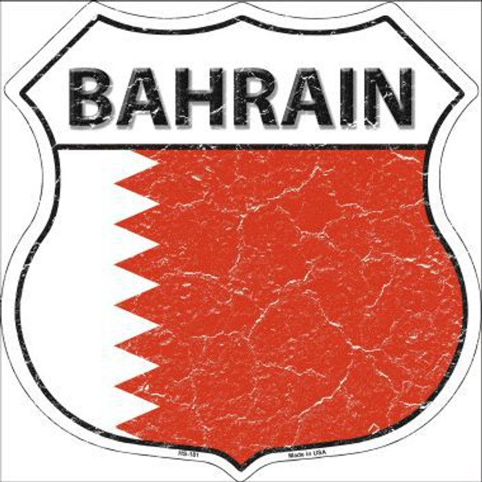Bahrain Country Flag Highway Shield Metal Sign