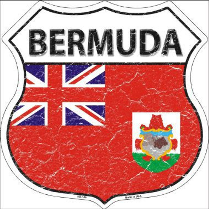 Bermuda Country Flag Highway Shield Metal Sign
