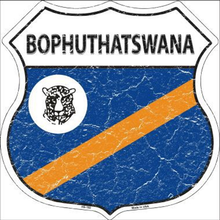 Bophuthatswana Country Flag Highway Shield Metal Sign