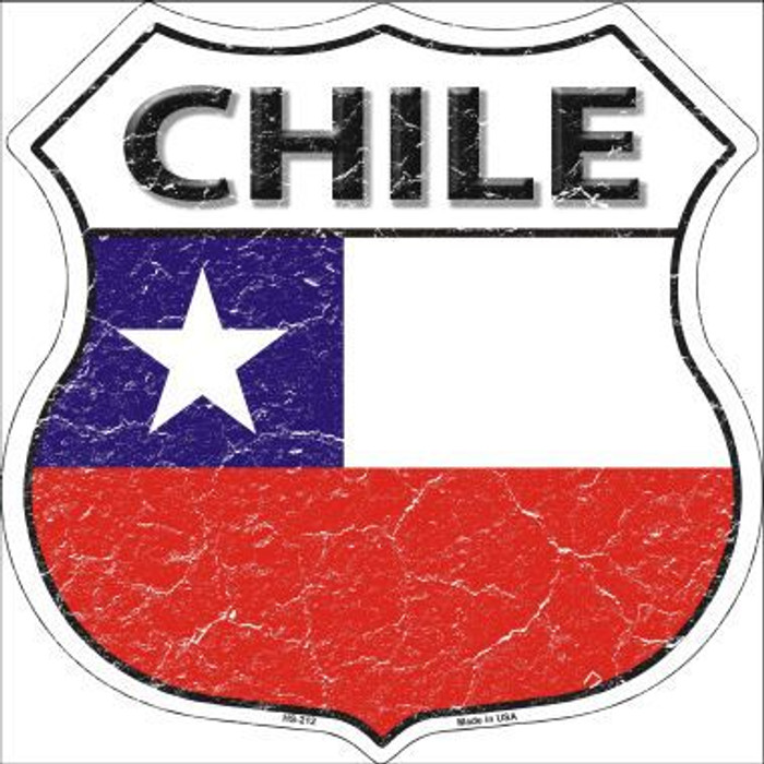 Chile Country Flag Highway Shield Metal Sign