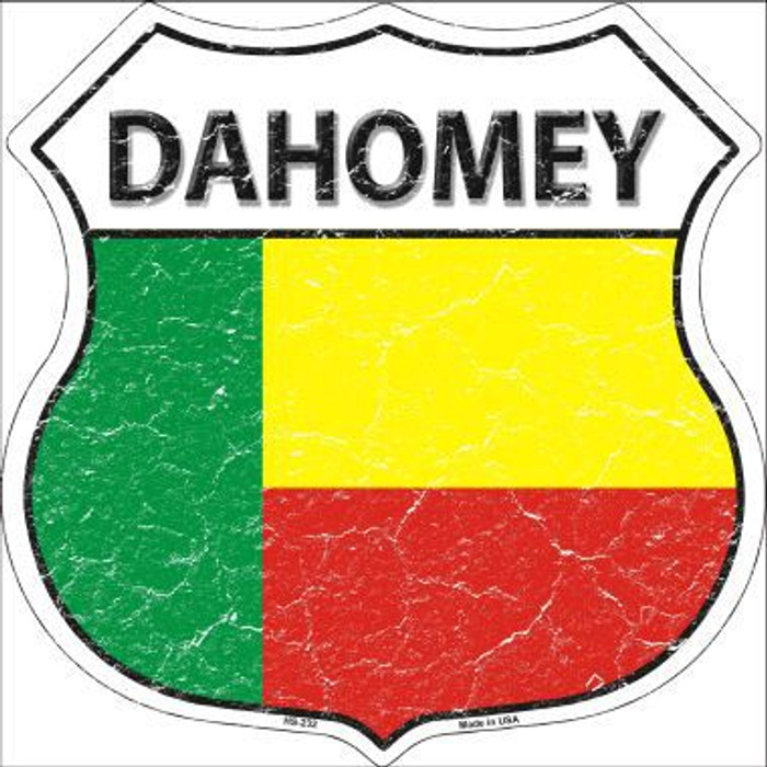 Dominica Country Flag Novelty Highway Shield Man Cave Aluminum Metal Sign