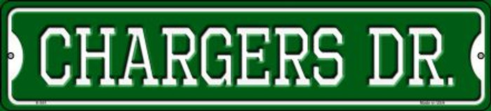 Chargers Dr Novelty Small Metal Street Sign K-951