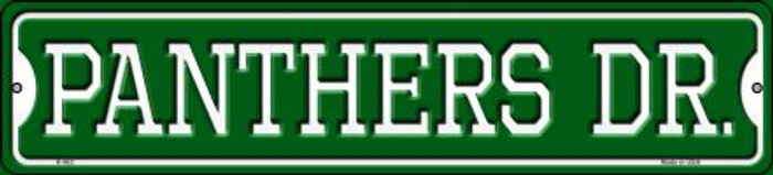 Panthers Dr Novelty Small Metal Street Sign K-963