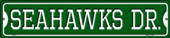 Seahawks Dr Novelty Small Metal Street Sign K-970