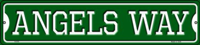 Angels Way Novelty Small Metal Street Sign K-976