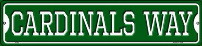 Cardinals Way Novelty Small Metal Street Sign K-982