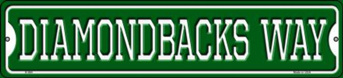 Diamondbacks Way Novelty Small Metal Street Sign K-984