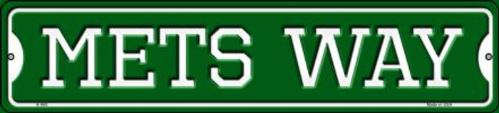 Mets Way Novelty Small Metal Street Sign K-990