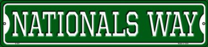Nationals Way Novelty Small Metal Street Sign K-99