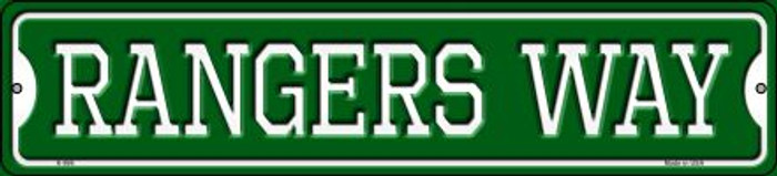 Rangers Way Novelty Small Metal Street Sign K-996