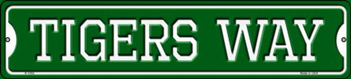 Tigers Way Novelty Small Metal Street Sign K-1002