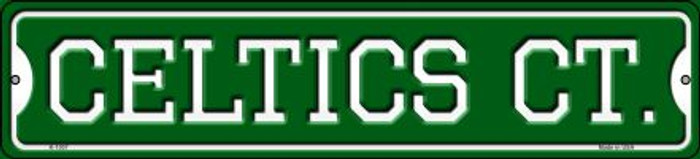 Celtics Ct Novelty Small Metal Street Sign K-1007