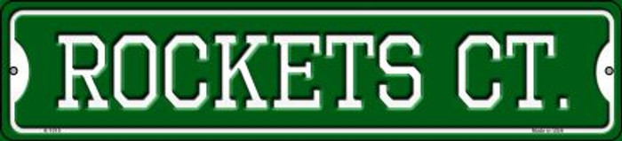 Rockets Ct Novelty Small Metal Street Sign K-1015