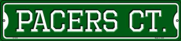 Pacers Ct Novelty Small Metal Street Sign K-1016