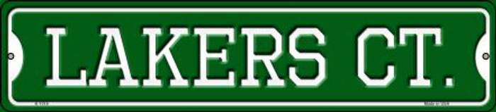 Lakers Ct Novelty Small Metal Street Sign K-1018