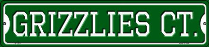 Grizzlies Ct Novelty Small Metal Street Sign K-1019