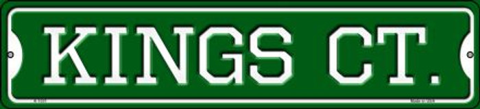 Kings Ct Novelty Small Metal Street Sign K-1031