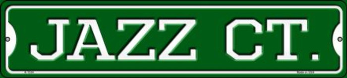 Jazz Ct Novelty Small Metal Street Sign K-1034