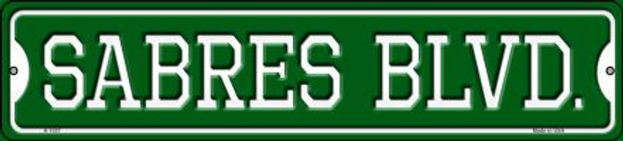 Sabres Blvd Novelty Small Metal Street Sign K-1037
