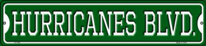 Hurricanes Blvd Novelty Small Metal Street Sign K-1038