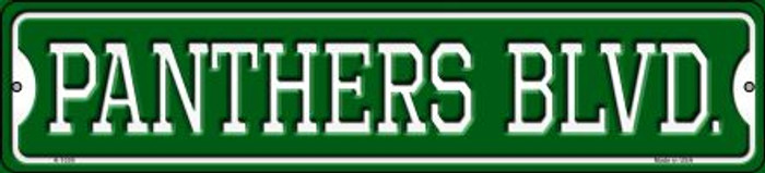 Panthers Blvd Novelty Small Metal Street Sign K-1039