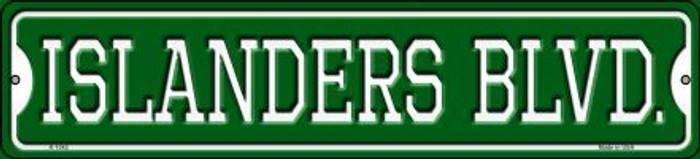 Islanders Blvd Novelty Small Metal Street Sign K-1042