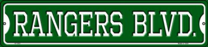 Rangers Blvd Novelty Small Metal Street Sign K-1043