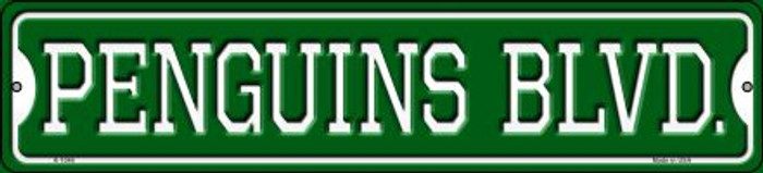 Penguins Blvd Novelty Small Metal Street Sign K-1046