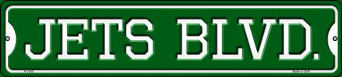 Jets Blvd Novelty Small Metal Street Sign K-1050