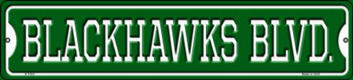 Blackhawks Blvd Novelty Small Metal Street Sign K-1053