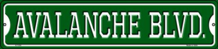 Avalanche Blvd Novelty Small Metal Street Sign K-1054