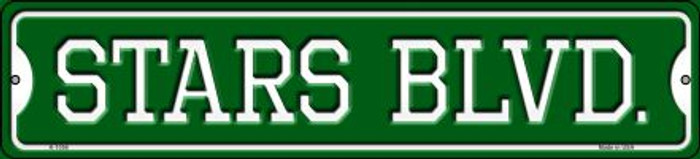 Stars Blvd Novelty Small Metal Street Sign K-1056