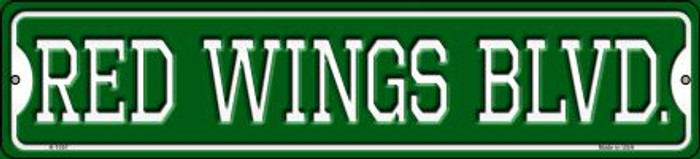 Red Wings Blvd Novelty Small Metal Street Sign K-1057