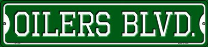 Oilers Blvd Novelty Small Metal Street Sign K-1058