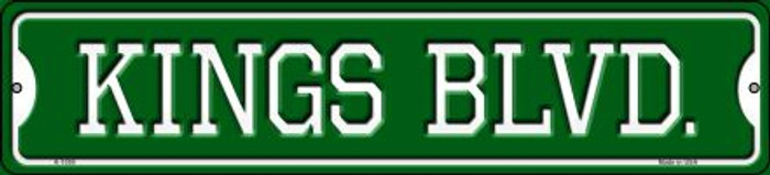 Kings Blvd Novelty Small Metal Street Sign K-1059